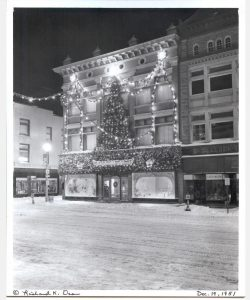The front of Fowler's Department Store in downtown Glens Falls NY