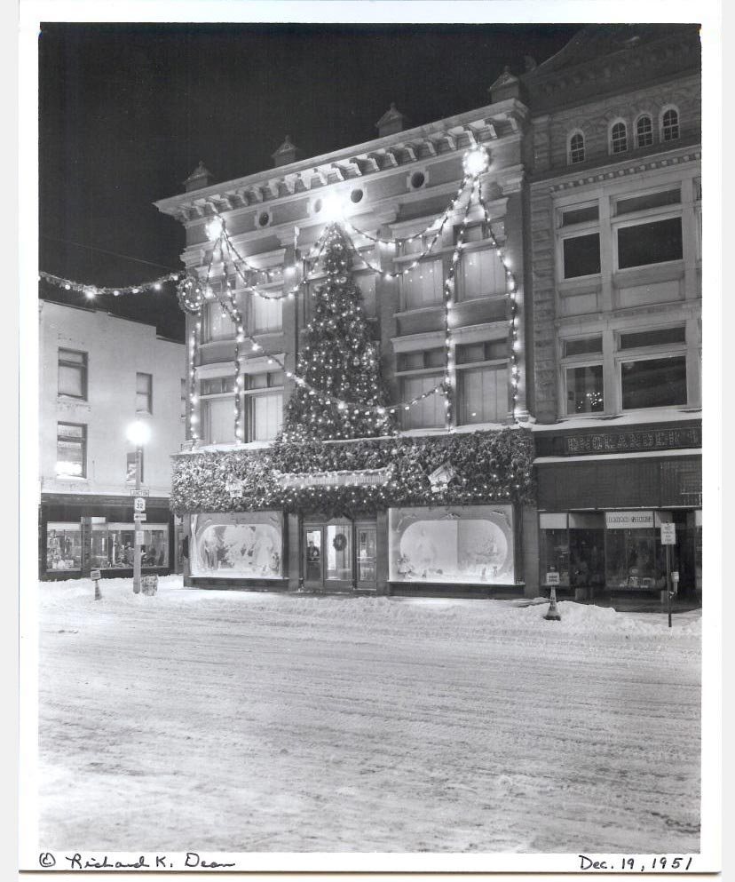 The front of Fowler's Department Store in downtown Glens Falls