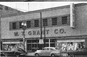 The W. T. Grant store in Glens Falls NY