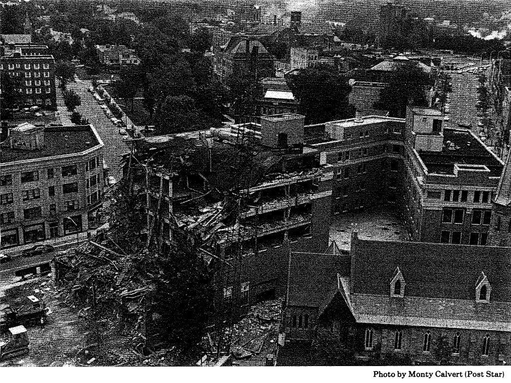 Demolition begins on the Glens Falls Insurance offices