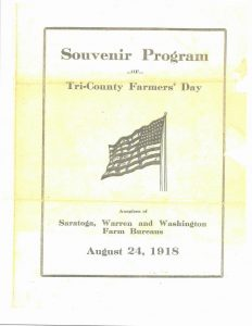 Tri-County Farmers' Day, August 24, 1918 Program Cover